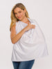 The Anywhere Bra by Ollie Gray in White comes with a privacy cloth for moms who breastfeed