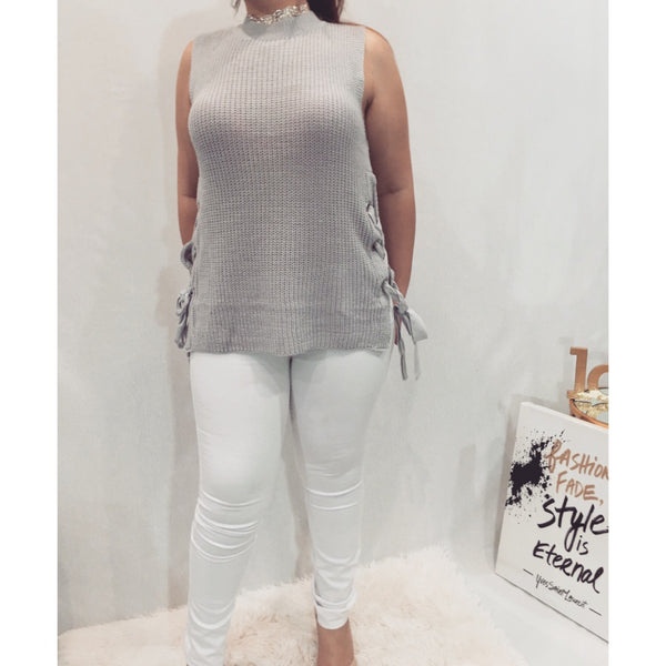 Gray lightweight knit