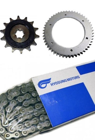 HYOSUNG CHAIN SPROCKET KIT GT125 GT125R