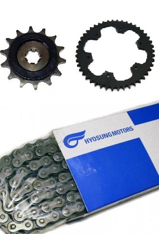 HYOSUNG CHAIN SPROCKET KIT GT250 GT250R