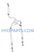 Hyosung Brake Line Front Twin Disc GT250