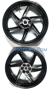 Hyosung Rear Wheel Rim Black Hyosung GT650 GT650R