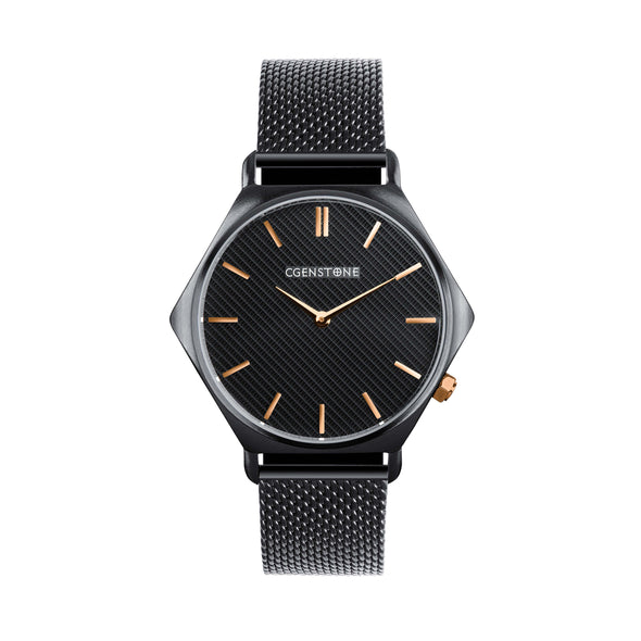 Hx 02 - Gunmetal Watch By CGENSTONE. Hexagon watch shape