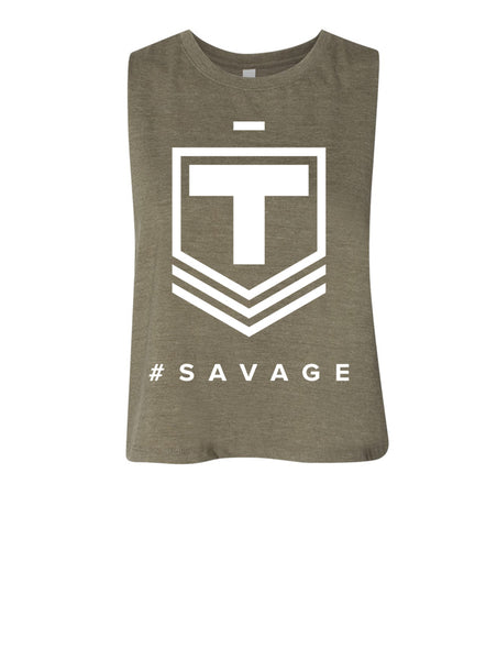 #Savage Crop Tank