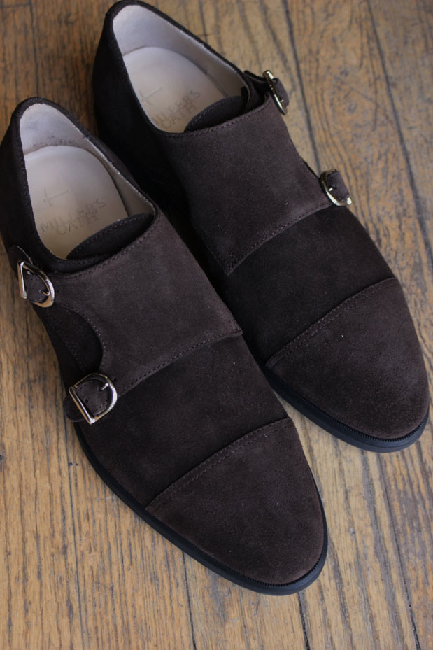 Chocolate Suede Double Monk Strap w/ Comando Sole