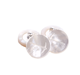 Cufflinks in Mother of Pearl with Pick Axe Logo