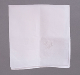 Hand Rolled White Irish Linen Pocketsquare