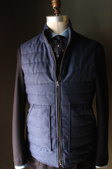 Navy Blue Flannel Vest