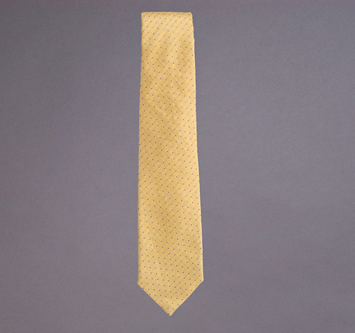 Woven Silk and Linen Dot Tie