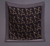 Oversize Reversible Pick Axe Silk Scarf