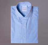 Gingham Blue and Blue