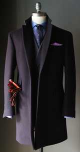 Navy Melton Overcoat
