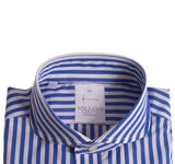 Royal and White Cabana Stripe Shirt