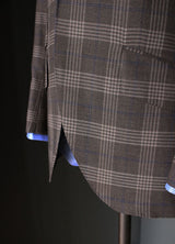 Light Brown Plaid with Blue Overcheck Sportcoat