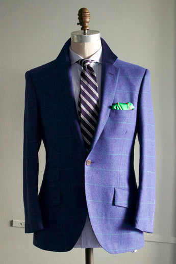 Navy with Green Windowpane Sportcoat