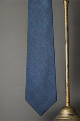 Matka raw silk tie, light blue