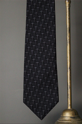 Woven Pick Axe Formal Dot Tie