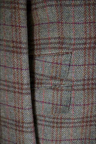 Textured Olive Sportcoat with Multi-Color Deco