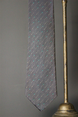Silk Tie with Arrow and bright feather Motif