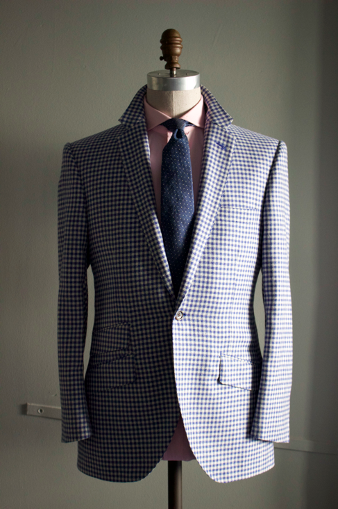 Shepherd Check Sportcoat in Royal Blue