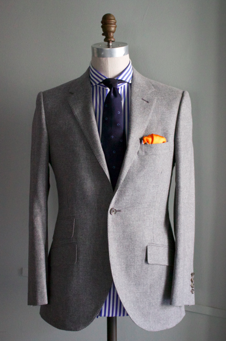 Grey Flannel Shadow Stripe Suit