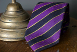 Woven Regimental Stripe tie, Purple/Black, NS