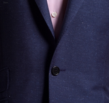 Navy Worsted Donegal Suit