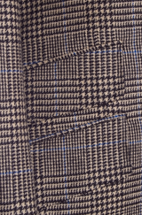 Glen Plaid Flannel Suit with Blue Deco