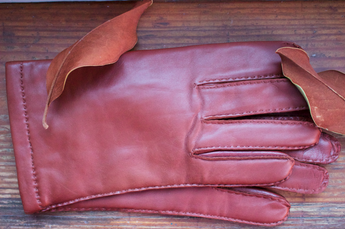 Cashmere lined Brown Nappa leather gloves