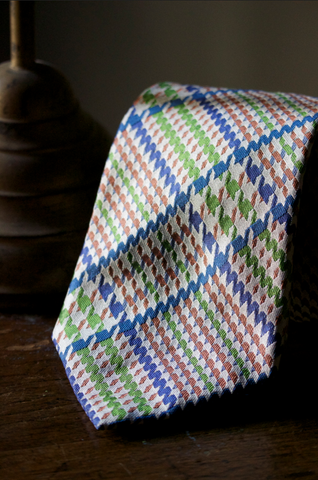 Oversize Glen Plaid Tie