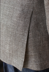 Unstructured Tan Herringbone Sportcoat