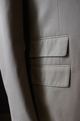 Unstructured Dark Tan Cotton Suit