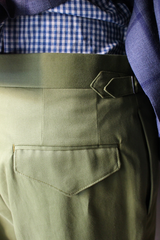 Green Cotton Drill Trouser