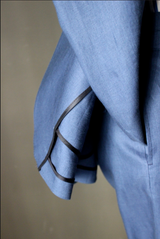 Unstructured Blueberry Linen Sport Coat