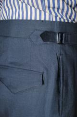 Blueberry Linen Trouser