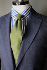 Unstructured Mini Check Blue Suit