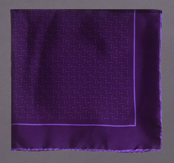 Tossed Pickaxe Pocketsquare, Purple