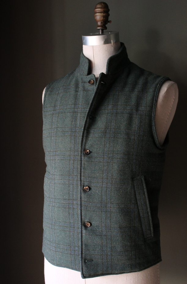 9bc80be2d0 Forest Green Plaid Tweed Vest