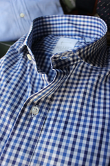 Dark Navy and Blue Check Dress Shirt