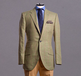 Heather Green Windowpane Sportcoat