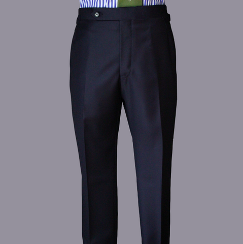 Navy Worsted Wool Trouser