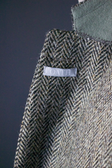 Unstructured Herringbone Tweed Sportcoat