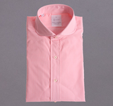 Narrow Pink & White Stripe Shirt