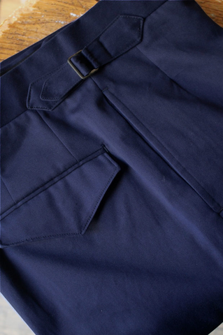 Navy Cotton Trouser