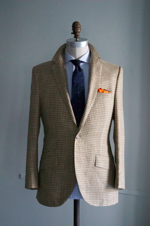 Brown and Tan Check Sportcoat