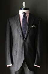 Charcoal Flannel Chalk Stripe Suit