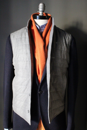 Light Grey Flannel Vest