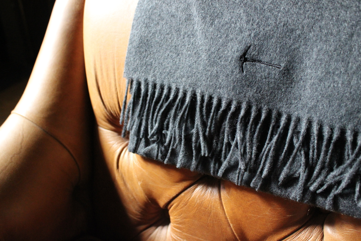 Charcoal Cashmere Scarf