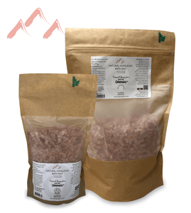 Natural Himalayan Crystal Bath Salt Biodegradable Bag small and large
