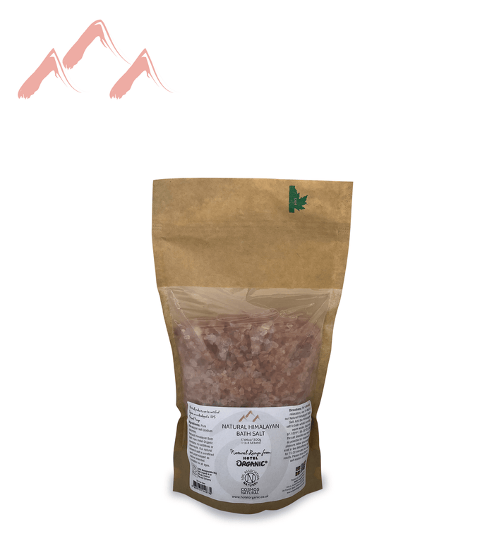 Natural Himalayan Crystal Bath Salt Biodegradable Bag, small 500g